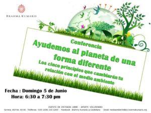 Junio 5 Conferencia Ayudemos al planeta de una forma diferente