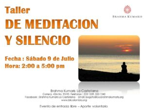 Julio 9 Taller de meditación y silencio